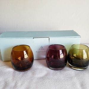 Retired PartyLite Colorscape Votive Trio (P8980)